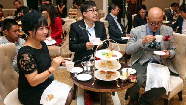 Participants learn everything about a traditional English afternoon tea. (Seatton) (Credit: Seatton)
