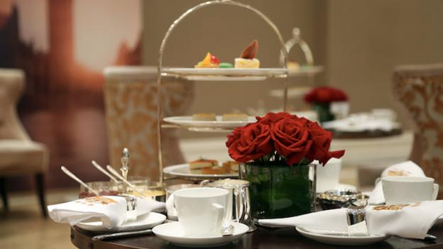 Afternoon tea etiquette training begins with props. (Seatton) (Credit: Seatton)