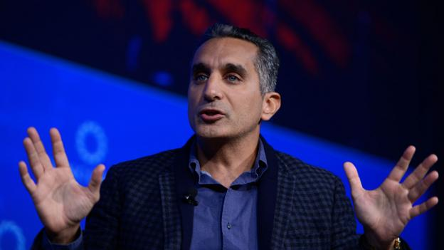 The man called 'The Egyptian Jon Stewart', Bassem Youssef, had his show banned in Egypt (Credit: Credit: Getty Images)