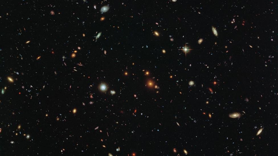 Distant galaxies (Credit: NASA/ESA/HST Frontier Fields team (STScl)/Judy Schmidt)