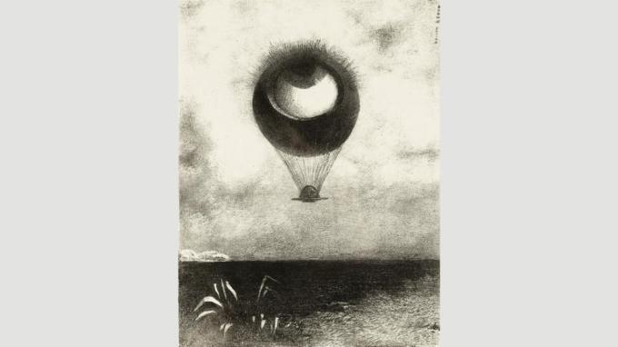 El ojo, como un globo extraño, Monturas hacia el infinito (1882) de Redon causó un impacto en los surrealistas (Crédito: Getty Images)