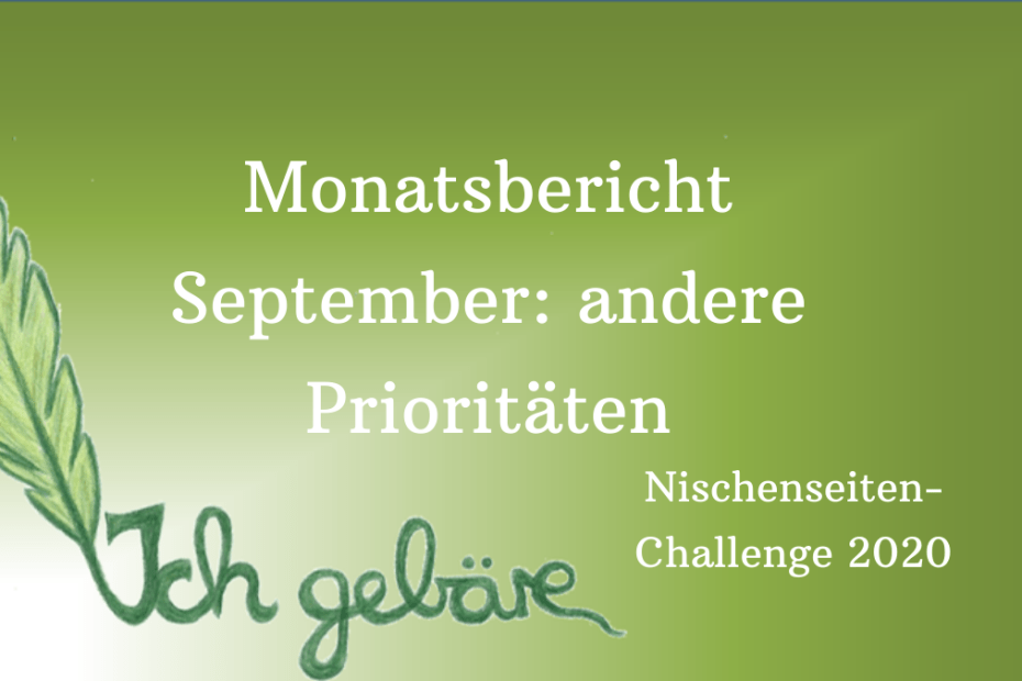 NSC20: Monatsbericht September