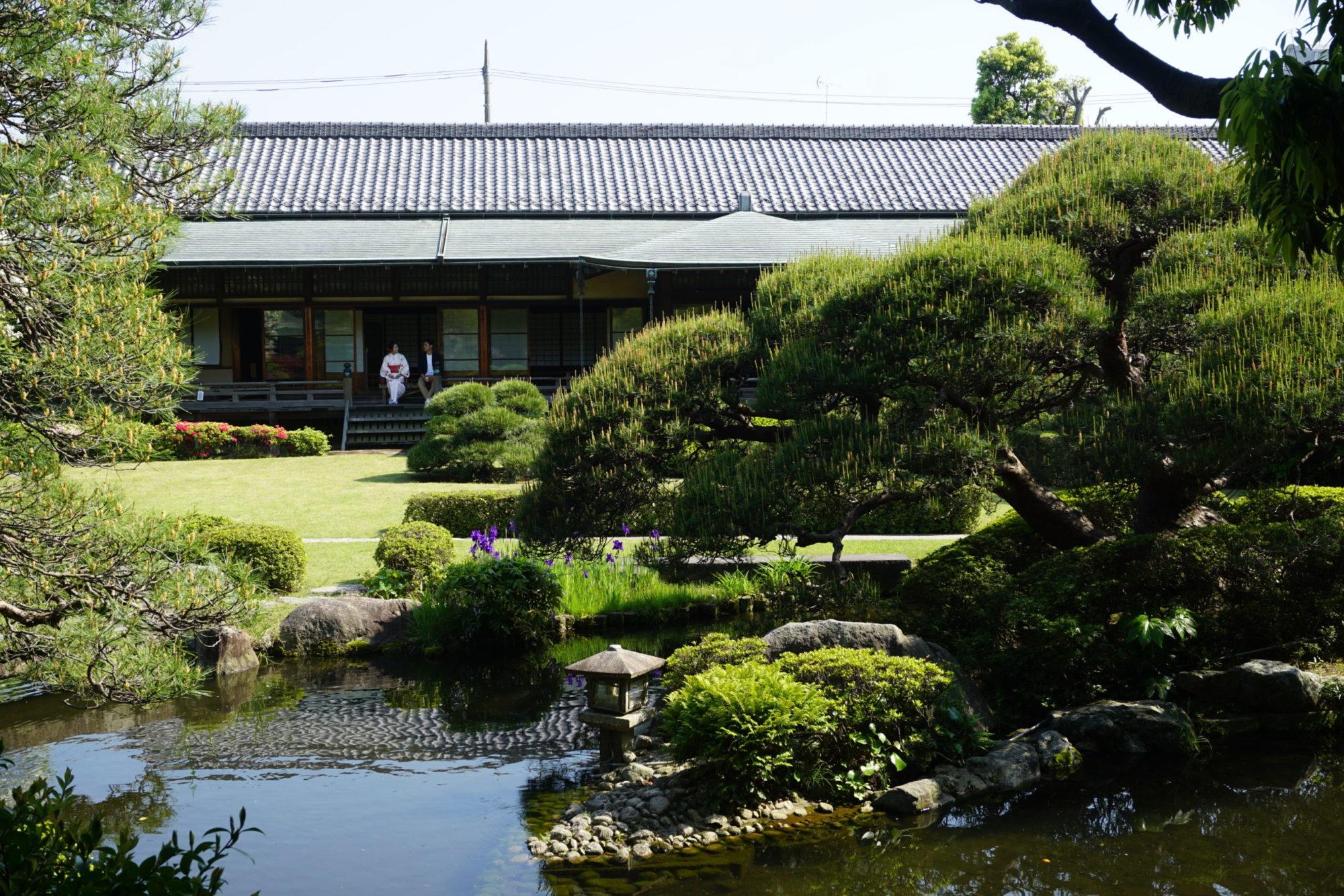 beaux jardins japonais au japon