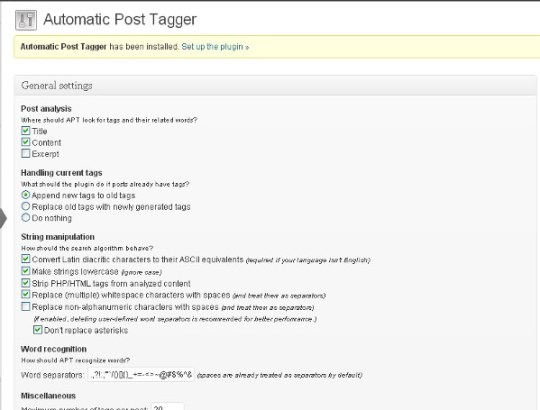 Automatic Post Tagger 2