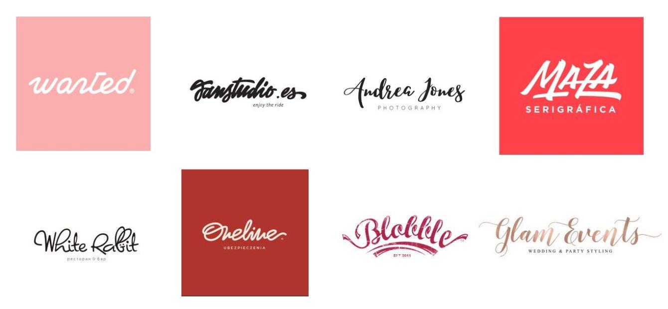 нарисованные лого