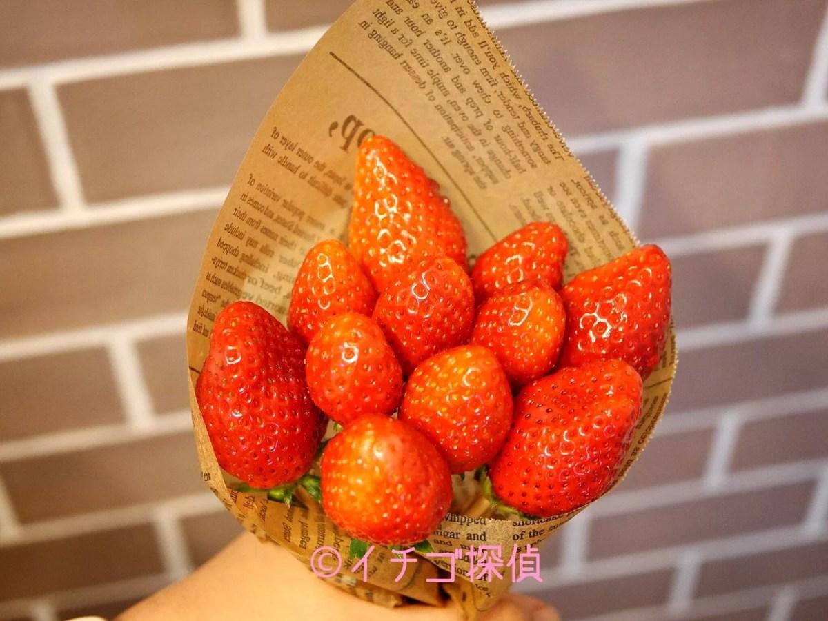 イチゴ探偵|「いちごブーケ」を作ってみた!【とちおとめ】で作った花束でサプライズ!
