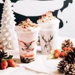 「いちごと恋するティーラテ」THE ALLEYのクリスマス限定メニューが12月1日から開始!黒糖タピオカ×いちご!
