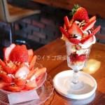 イチゴ探偵|新品種いちご紅クイーンとあまクイーンのパフェ! 「kissa dot.」パフェの部