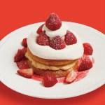 ビブリオテークで苺使用の「クリスマス ミルキークリームパンケーキ」やパフェが登場!