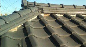 屋根漆喰の剥がれ