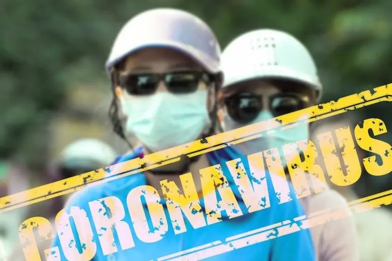 コロナウイルスを予防している人