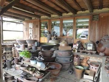 One of the working potteries in Tokoname