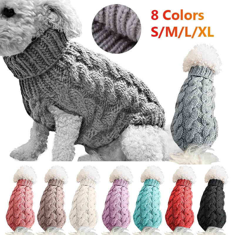 Winter Knitted Dog Clothes Warm Jumper Sweater For Small Large Pet Clothing Coat Knitting Crochet Cloth Jersey Perro Toys