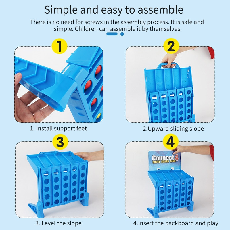 Connect 4 Game 1 Set Board Game Entertainment Connect Sports Educational Puzzle Toys For Kids Finger Basketball Shooting Game Sports & Entertainment