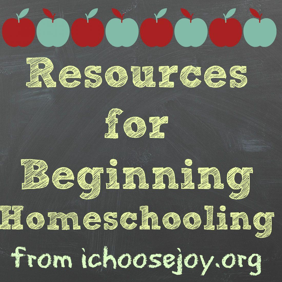 Resources for Beginning Homeschooling
