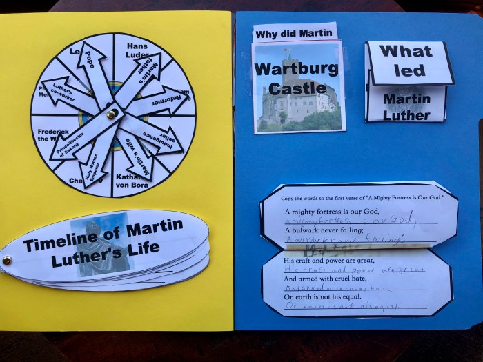 Martin Luther and the Reformation lapbook (14 mini booklets included)