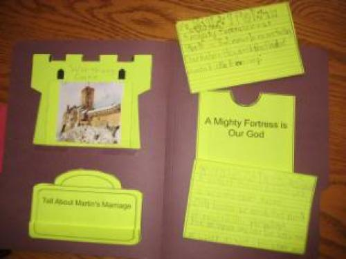 Martin Luther and the Reformation lapbook 3