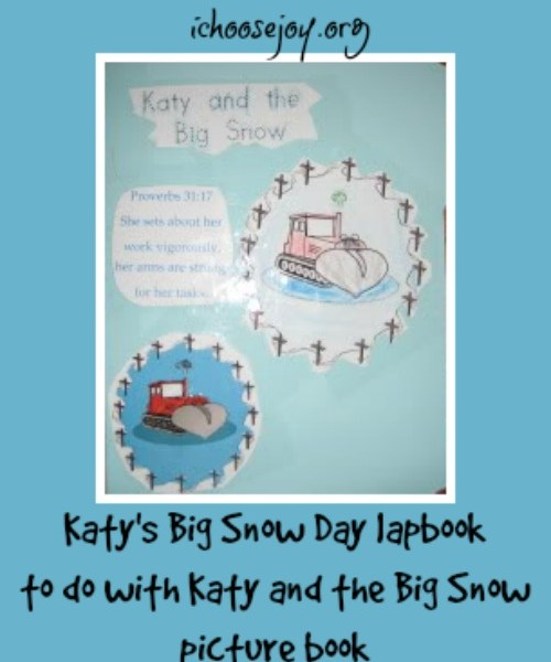 Katy's Big Snow Day lapbook to do with Katy and the Big Snow picture book