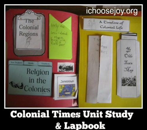 Colonial Times Unit and Lapbook