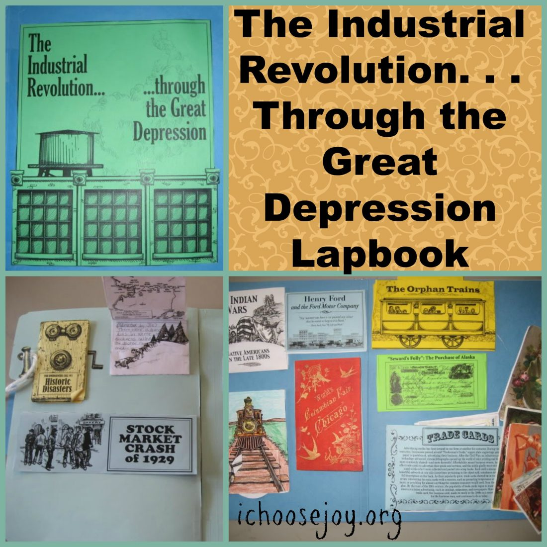 Industrial Revolution Through Great Depression lapbook