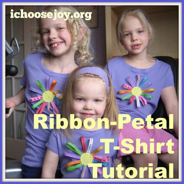 Pinterest Challenge- Ribbon-Petal Flower T-shirt tutorial