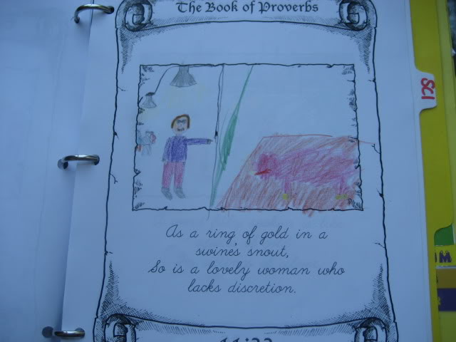 Illustrating the Proverbs from Homeschool in the Woods Old Testament Study ~ I Choose Joy!