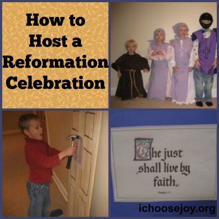 How to Host a Reformation Day Celebration