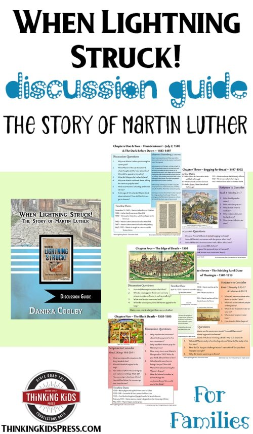 When Lightning Struck, historical fiction for teens about Martin Luther, perfect for Reformation Day, free discussion guide