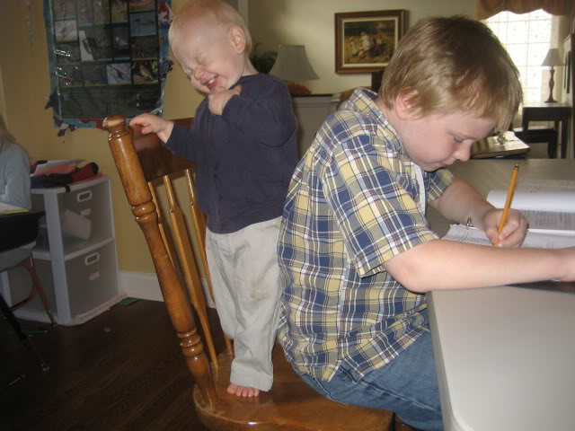 Homeschooling with a baby brother