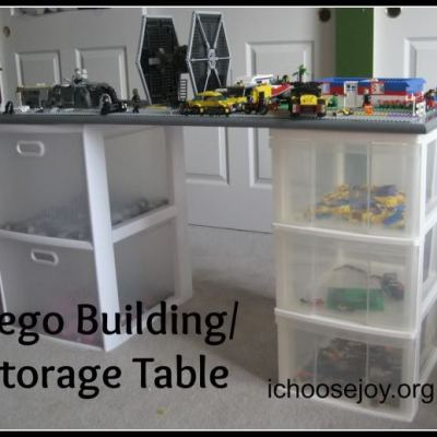 DIY Lego Building and Storage Table