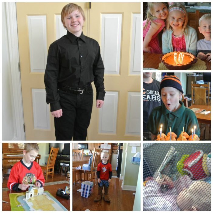 Collage Friday:  Birthdays and Castles
