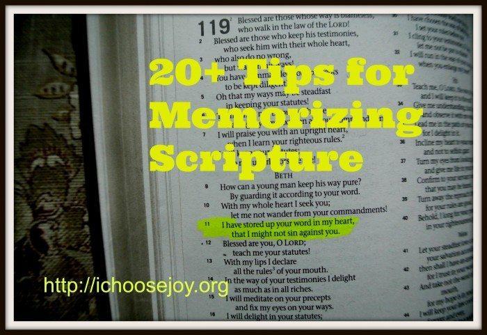 20+ Tips for Memorizing Scripture