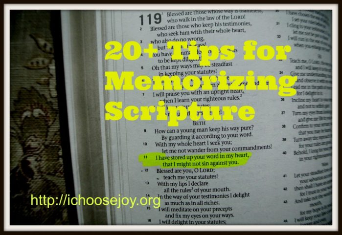 From House to Home {Link Party}:  20+ Tips for Memorizing Scripture