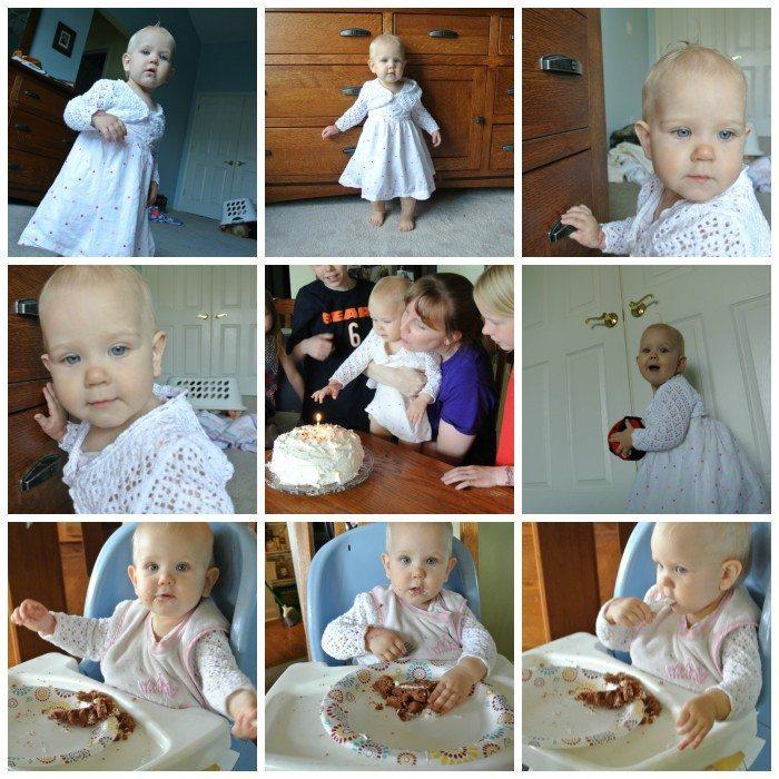E 1st Birthday Collage