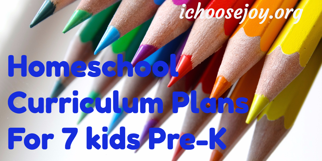 Homeschool Curriculum Plans Pre-K thru 7th Grade