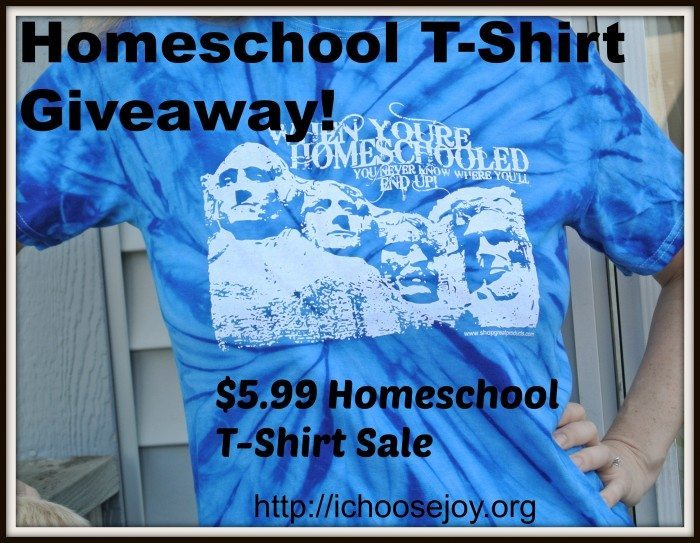Homeschool T-Shirt Giveaway