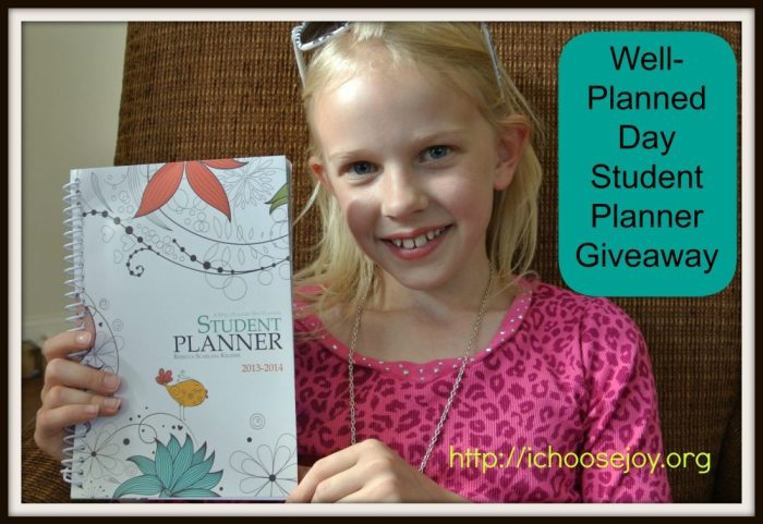Well Planned Day Student Planner Giveaway