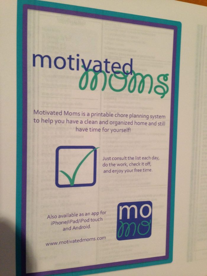 Review/Giveaway of 2014 Motivated Moms Planner