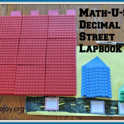 "Homeschool Essentials: Math-U-See Decimal Street lapbook for ""Alpha"""
