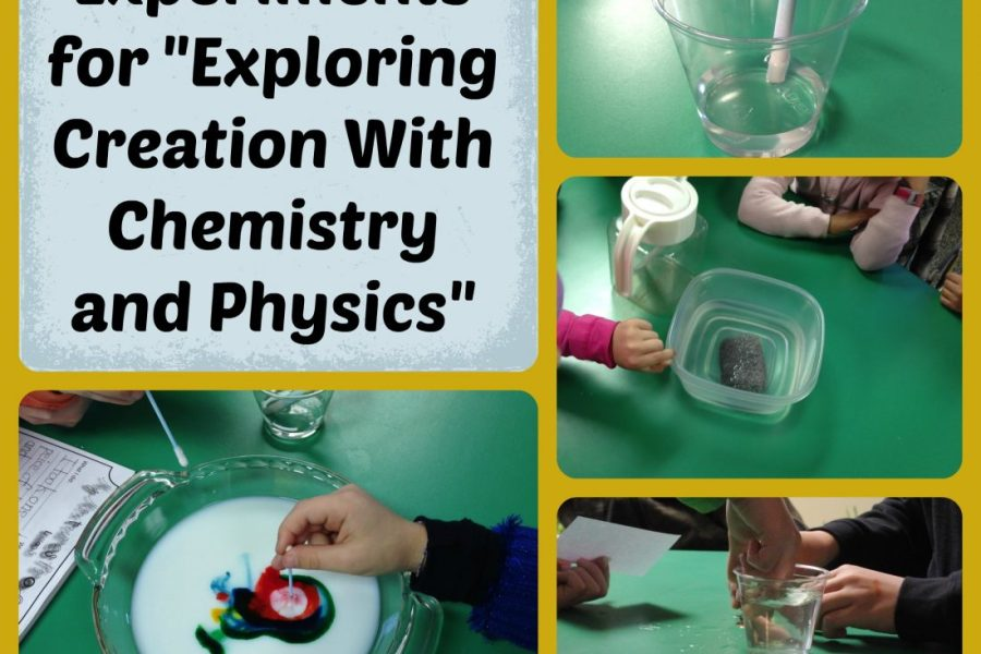 """Science Experiments for """"Exploring Creation with Chemistry and Physics"""" for your elementary homeschool, from I Choose Joy!"""