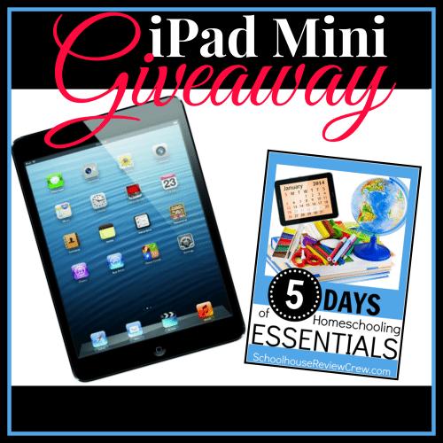 Homeschool Essentials Giveaway: Win an iPad Mini!
