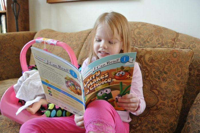 From House to Home {Link Party}: Review of Veggie Tale readers