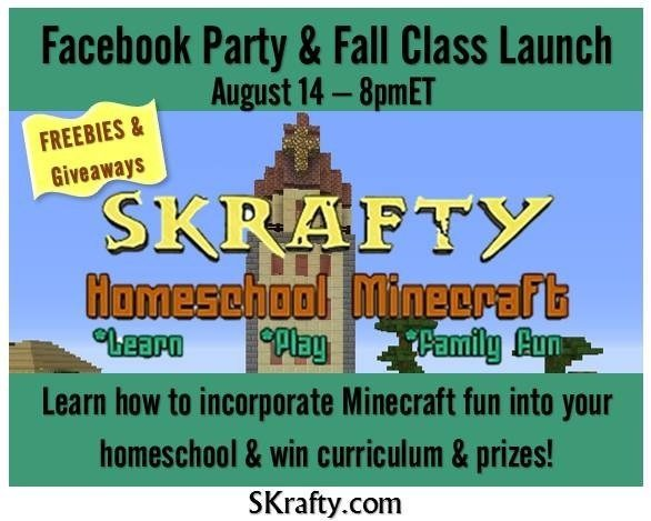 Skrafty Homeschool Minecraft Facebook Party