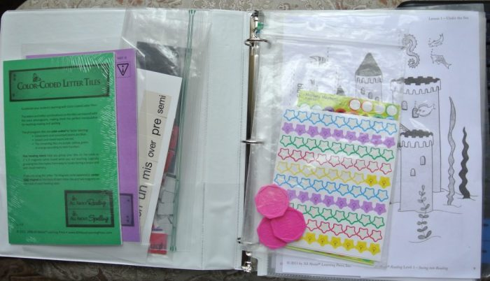 Set up Notebook for All About Reading and Spelling 002