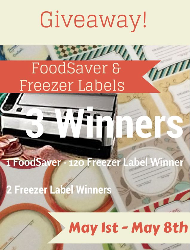Giveaway: FoodSaver / Freezerlabel.Net Freezer Labels