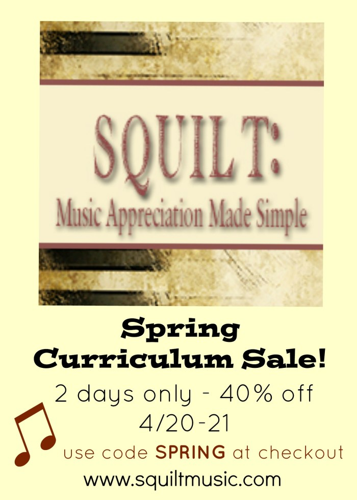 SQUILT Sale for Music Appreciation