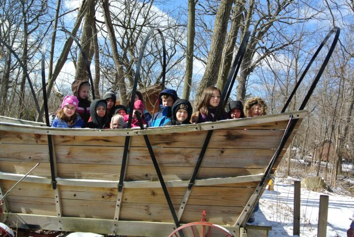 """Field Trip to """"The Grove Log Cabin"""" in Glenview, IL"""