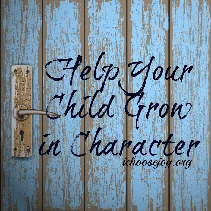 Child Grow in Character