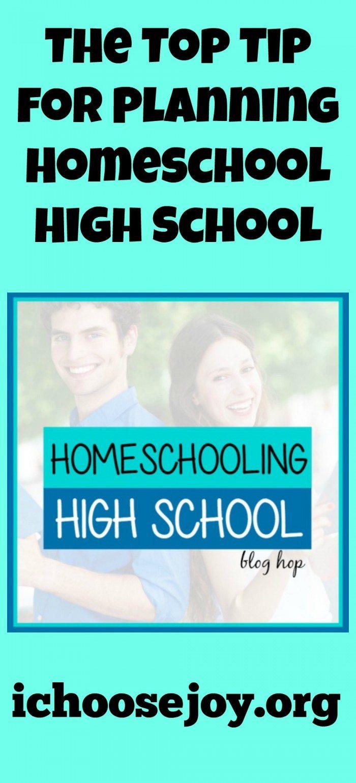 Top Tip for Homeschooling High School