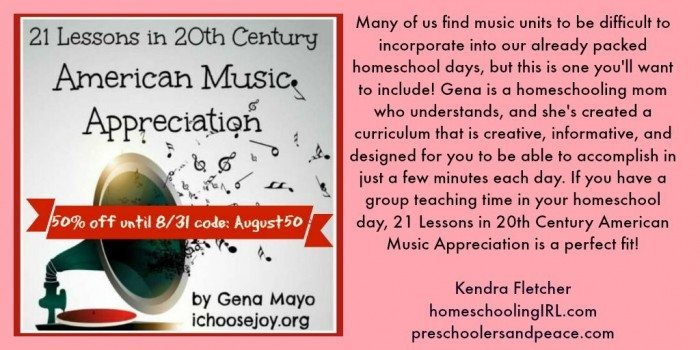 21 Lessons in 20th Century American Music Appreciation August sale Twitter Kendra Fletcher